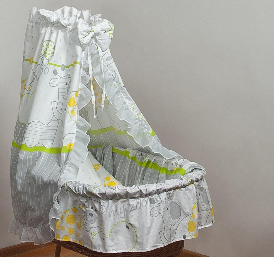 bettw sche set f r moseskorb babykorb stubenwagen mit baumwolle betthimmel 96 ebay. Black Bedroom Furniture Sets. Home Design Ideas