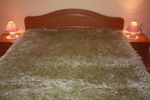 sofa berwurf tagesdecke sofaschoner flauschdecke gr n ebay. Black Bedroom Furniture Sets. Home Design Ideas