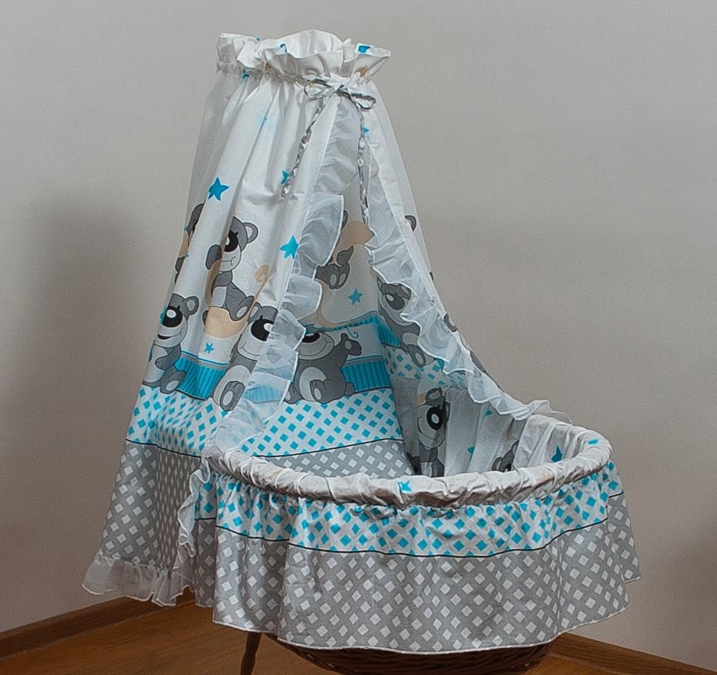 bettw sche set f r moseskorb babykorb stubenwagen mit baumwolle betthimmel 305 ebay. Black Bedroom Furniture Sets. Home Design Ideas