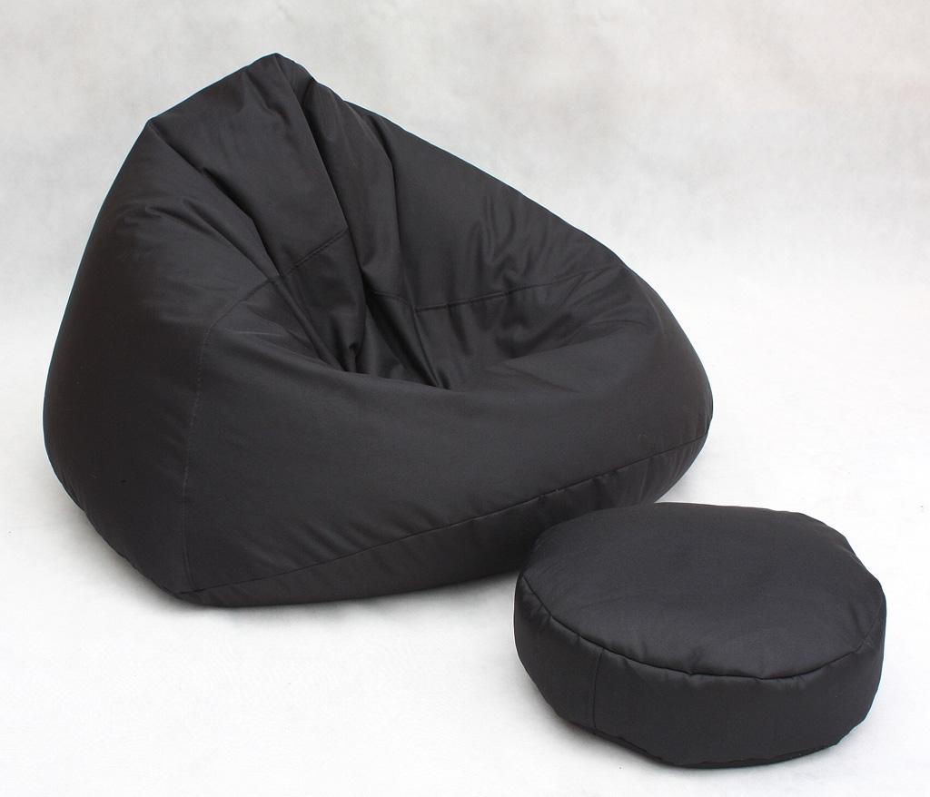 Divano piccolo pouf nero per bambino salotto puff puf ebay - Poltrona a sacco ikea ...