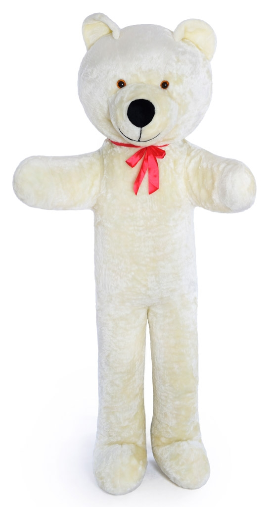 grand nounours blanc 205cm peluche g ante norme eur 84 99 picclick fr. Black Bedroom Furniture Sets. Home Design Ideas