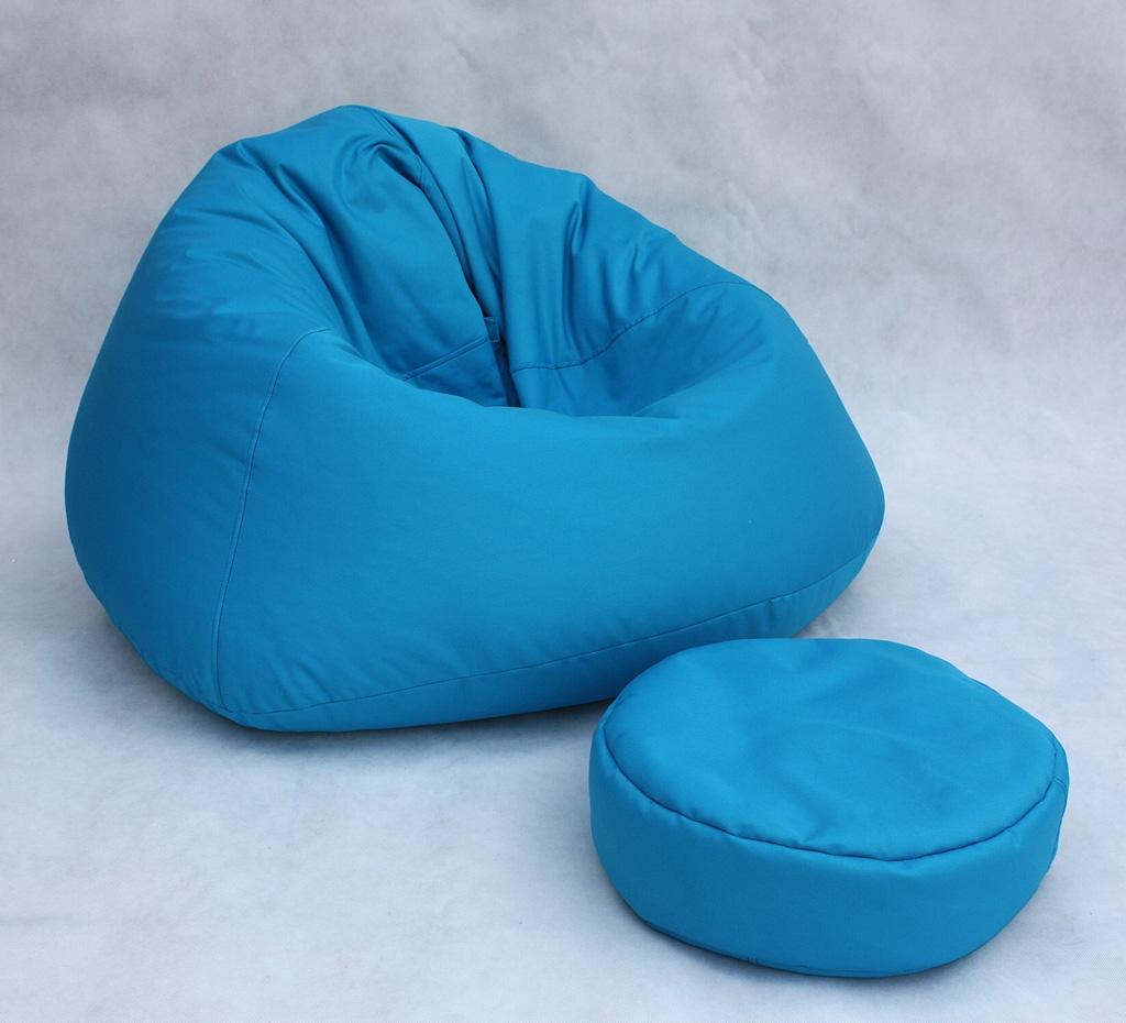 Divano piccolo pouf blu per bambino salotto puff puf ebay - Pouf per divano ...