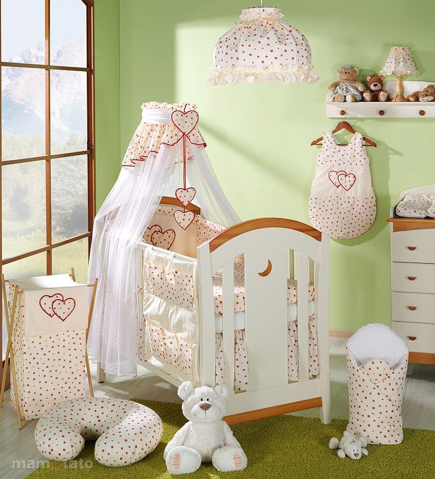 14 tlg herzen babybett set bettw sche himmel nestchen h rnchen f r bett 60x120 ebay. Black Bedroom Furniture Sets. Home Design Ideas