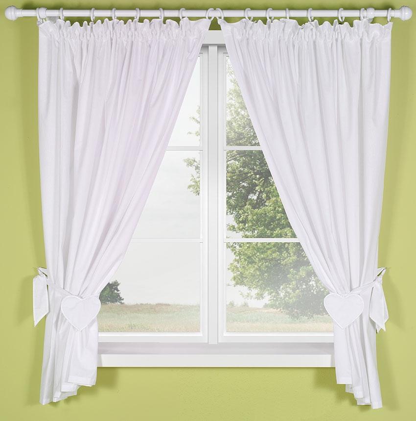 vorhangset mit applikation f r babyzimmer vorhang dekoschal gardinen dekoschal ebay. Black Bedroom Furniture Sets. Home Design Ideas