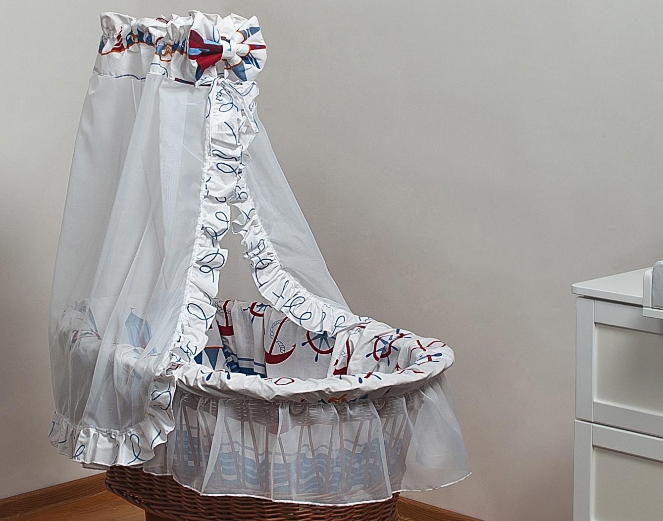 Bettwäsche set für moseskorb babykorb stubenwagen mit voile